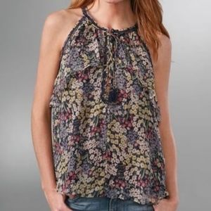 Rebecca Taylor Wildflower Silk Halter Top